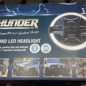 "Thunder 7"" Round LED Parking Light Headlamp - ADR APPROVED"