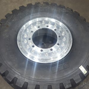 PACKAGE DEAL - Mog Central custom forged 20x10 machined Alloy Beadlock rim with BKT tyres and longer studs/nuts