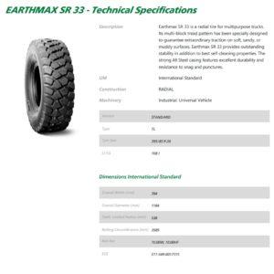 BKT Earthmax SR33 Tyre ONLY - 395/85R20